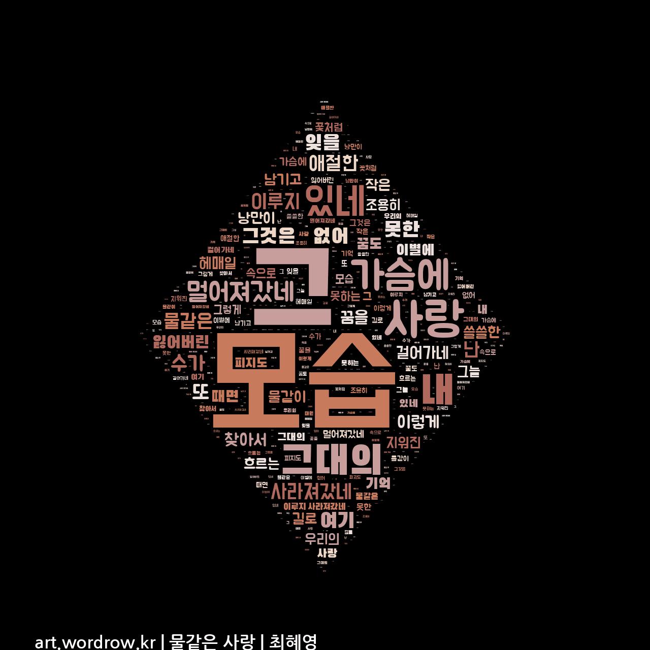 워드 아트: 물같은 사랑 [최혜영]-79